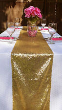 Ebay Lowest Price Runner Ever-10''x72'' Glitz Gold Sequin Table Runners on Sale