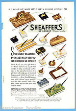1938 SHEAFFER'S Pen advertisement, color, desk sets, pen holders