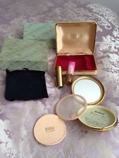 Very Rare vintage KIGU powder and lipstick compact Including Original Box