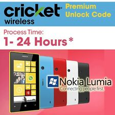 UNLOCK Cricket All Nokia Lumia CODE 520 530 535 620 630 635 640 977 1320 PREMIUM
