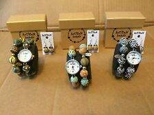 JOB LOT 3 ARTISAN BEADS WATCH & BRACELET GIFT SETS  RRP £39.99 Each New Boxed