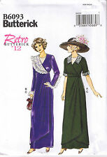 Vintage Early 1900s 20th Century Mock Wrap Dress Sewing Pattern Sz 6 8 10 12 14