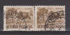 Indonesia Indonesie nr 173 pair paar used Diernezegels 1956-1958