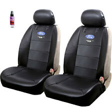NEW PAIR OF BLACK FORD MUSTANG LOGO CAR TRUCK SUV FRONT SIDELESS SEAT COVERS