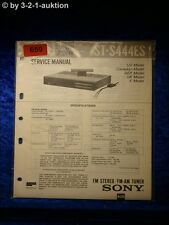 Sony Service Manual ST S444ES Tuner (#0659)