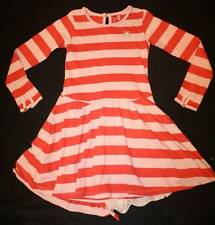 Boutique NO ADDED SUGAR Crocodile Tiers Pink Red Stripe Bustle Dress 5 6 7 8