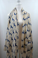 Sheep Country Animals Fox Duck Stag Birds  Print Scarf Women Scarves Scarfs uk