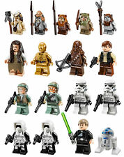 LEGO Star Wars 17 MINIFIGURES from Ewok Village 10236 LEIA WICKET CHIRPA HAN
