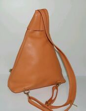 Valentina ��% Authentic Genuine Leather Made In Italy Backpack Style Handbag