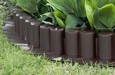Plastic Garden Fence Panels Boarder Lawn Palisade Edge Patio Fencing BROWN AL6