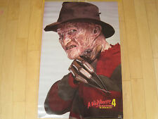 ORIGINAL!! 1988 vtg A NIGHTMARE ON ELM STREET 4 freddy krueger MOVIE POSTER art