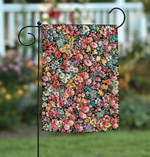 NEW Toland - Flower Foray - Colorful Multicolor Floral Collage Garden Flag