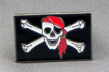 Metal Enamel Pin Badge Brooch Pirate Rebel Pirate Skull and Bones Jolly Roger