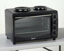Avanti MKB42B Mini Kitchen Black Electric Oven/Convection Toaster with 2 Burners