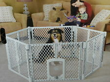 Dog Kennel Cage Playpen With Door Portable Top Paw