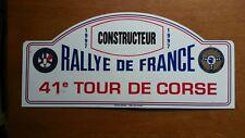 Tour De Corse 1997 Rally Plate