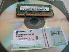 Windows 7 Professional 64 bit Disk, COA License Sticker & Ram Stick Win Pro