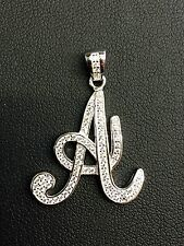 "NEW!! 925 Sterling Silver CZ Letter Initial ""A"" Pendant Necklace"