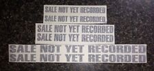 """National Cash Register Flash Decal Sticker Transfer """"Sale Not Yet Recorded"""""""