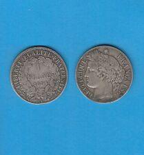 Gertbrolen 1 Franc Argent Type Cérès  Silver Coin  1894 Paris