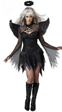 Adults Ladies Costume Dark Angel Devil Costumes Halloween Fancy Dress Outfit New