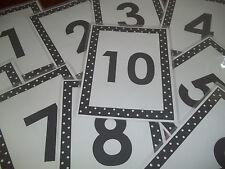 10 Numbers 1-10 Posters.  8.5 x 11.   Preschool through Kindergarten Classroom P
