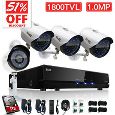 US 1800TVL 8CH CCTV DVR Wired Home Outdoor Night Security Camera System Kit 1TB