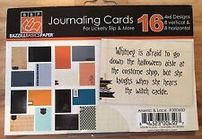 Lickety Slip/Pocket Pages Bazzill Journaling Cards Arcenic & Lace Halloween