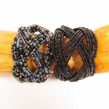 Set of 2 Handmade Beaded Braided Jane Cuff Bracelet FREE SHIPPING!!