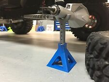 SBC 1/10 Scale Jack Stand for Scale RC Crawlers & Scale Garage Blue
