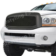 06-08 Dodge Ram 1500+06-09 Ram 2500+3500 Matte Black Packaged Mesh Grille+Shell