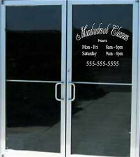 Custom Business Store Hours Sign Vinyl Decal Sticker 20x16 Window Door Glass