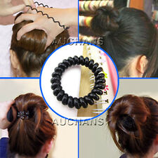 Hair Rope Tel Wire Style Durable Elastic Rubber Band Hair Ties Ponytail Holder
