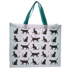 Cat Design Durable Reusable Shopping Hand Bag Ladies Gym Travel Grocery NWBAG29