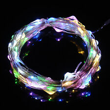 Waterproof 50 LED String Copper Wire Fairy Lights Battery Powered Remote Control