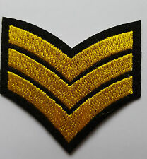 ARMY Air Force Sergeant chevrons Brand New Iron on Sew on embroided patch