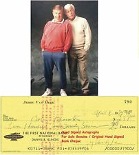 JERRY VAN DYKE  AMERICAN COMEDY ACTOR  GENUINE HAND SIGNED BANK CHEQUE / CHECK