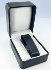BLUE Leatherette Single WATCH or Bangle Bracelet GIFT Display BOX Case