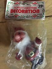 Vintage Elf Pixie Santa Red Suit Christmas Novelty McCrory Corp.1983 NIP