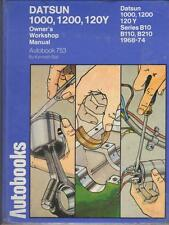 DATSUN 120Y,1000,1200,PICK UP,B10,B110,B210 AUTOBOOKS WORKSHOP MANUAL 1968-1974
