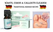 VERRUCA, WARTS, CORNS, CALLOUTS REMOVER 10 ML GERMAN RECIPE