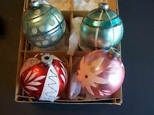 West Germany 4 Large Shiny Brite Ornaments