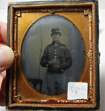 - Tintype Photo - Civil War Soldier - Cased Image Ambrotype 1860s Rochester NY