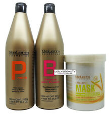Salerm Protein Shampoo & Balsam Conditioner 1000 ml + Wheat Germ Mask 1000 ml