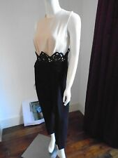 Max Mara Black & Cream Jumpsuit Size UK10
