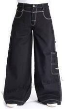 Bleubolt Goth Skater Jeans 34 inch hem Big Size Super Baggy Loose fit Style 1500