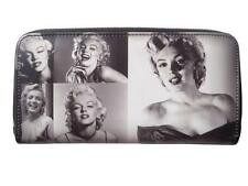 Marilyn Monroe Rare Retro Photo Collage Money Case Clutch Wallet Purse Bag