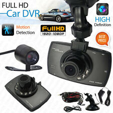 "Dual Lens 1080P 2.7"" Full G-sensor Car Camera Video Recorder Dash Cam Crashcam"
