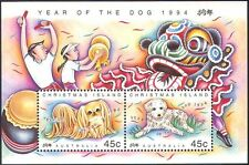 Christmas Island 1994 YO Dog/Greetings/Animals/Lunar Zodiac/Luck  2v m/s (b5115)