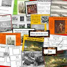 THE GREAT FIRE OF LONDON resources CD- KS1, KS2 topic, History IWB Power Point